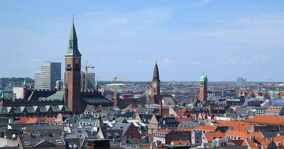 Udsigt over byens tage i København